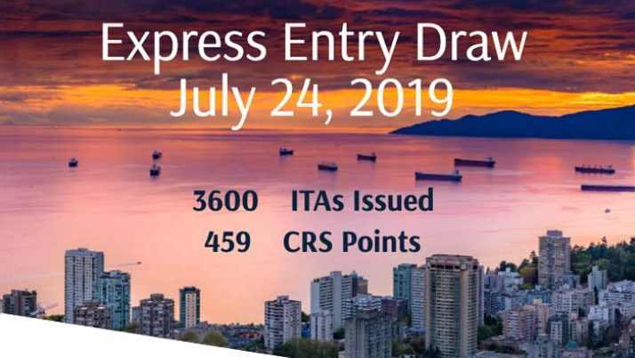 Express Entry Draw: July 24th, 2019