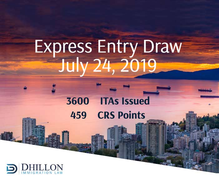 Express Entry Draw: July 24th, 2019 – Dhillon Immigration Law