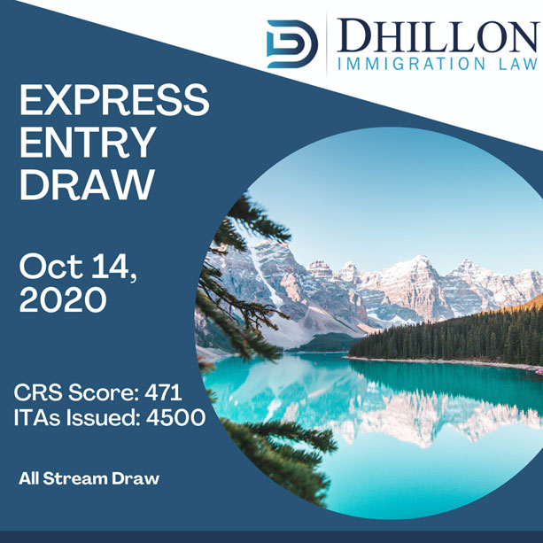 Express Entry Draw – Oct 14, 2020